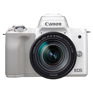 "Canon EOS M50 Blanc + EF-M 18-150 mm IS STM Appareil photo hybride 24.1 MP - Vidéo 4K - AF CMOS Dual Pixel - Ecran LCD tactile orientable 3"" - Wi-Fi/NFC - Bluetooth + Objectif EF-M 18-150 mm IS STM"