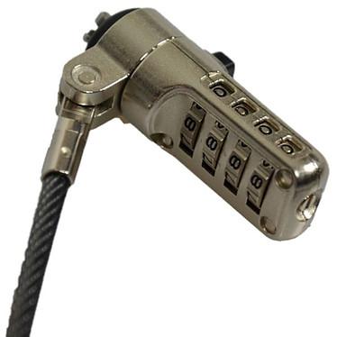 PORT Connect Noble Wedge Combination Lock Câble de sécurité à code personnalisable pour ordinateur Dell avec encoche Noble Wedge (1.8 m)