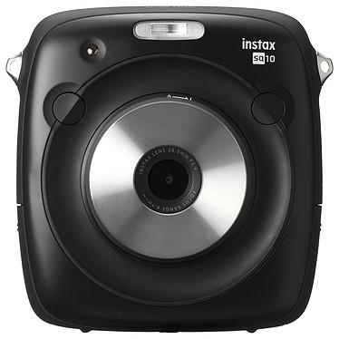 """Fujifilm instax Square SQ10 Noir Appareil photo instantané écran couleur LCD 3"""" avec modes macro, double exposition, mosaïque, flash, retardateur et support microSD"""