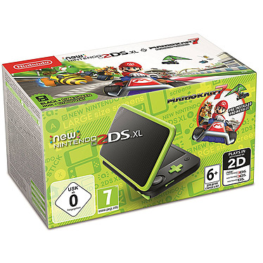 Nintendo New 2DS XL (Noir/Citron) + Mario Kart 7