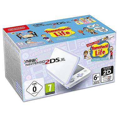 Nintendo New 2DS XL (Blanc/Lavande) + Tomodachi Life Console de jeux-vidéo portable tactile à deux écrans larges + Tomodachi Life
