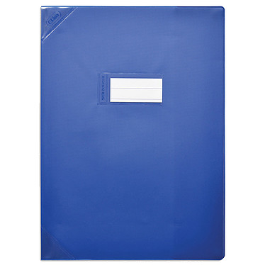 Elba Strong Line Opaque 17 x 22 cm Bleu Protège cahier opaque avec marque-page et poche de rangement - 17 x 22 cm