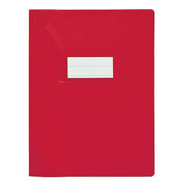 Elba Strong Line Opaque 17 x 22 cm Rouge Protège cahier opaque avec marque-page et poche de rangement - 17 x 22 cm