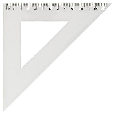 JPC Equerre 45 21cm Equerre incassable transparent 21cm