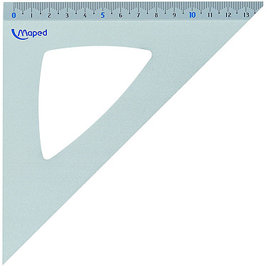 Maped Equerre 45 21cm Equerre aluminium angles 45° - 21 cm