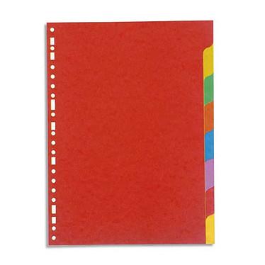 Intercalaires en carte lustrée 3/10 Format A4 8 positions