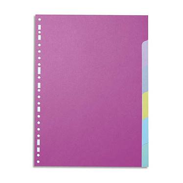 Intercalaires en carte recyclée Format A4 6 positions Intercalaires en carte recyclée 3/10 6 touches au format A4