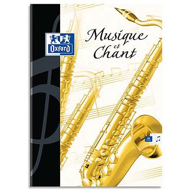 Oxford Essential Cahier Musique 48 pages 24 x 32 cm Seyès Cahier 48 pages 90g 24 x 32 cm grands carreaux en reliure piquée avec couverture pelliculée