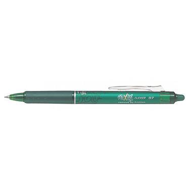 PILOT FriXion Ball Clicker 0.7 mm Vert Stylo rétractable à encre effaçable avec pointe moyenne 0.7 mm et agrafe en plastique