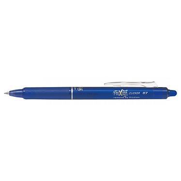 PILOT FriXion Ball Clicker 0.7 mm Bleu Stylo rétractable à encre effaçable avec pointe moyenne 0.7 mm et agrafe en plastique