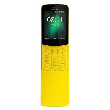 "Nokia 8110 4G Jaune Téléphone 4G Dual SIM - Snapdragon 205 Dual-Core 1.1 GHz - RAM 512 Mo - Ecran 2.4"" 240 x 320 - 4 Go - Bluetooth 4.1 - 1500 mAh"