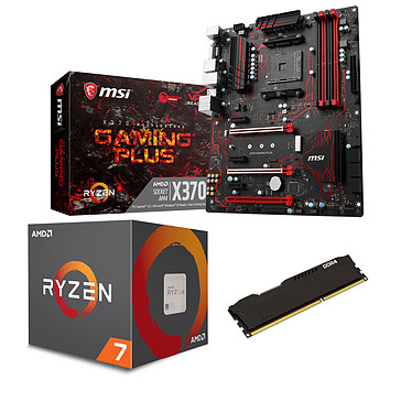 Kit Upgrade PC AMD Ryzen 7 1700 MSI X370 GAMING PLUS 8 Go