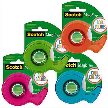 Scotch Magic sur dévidoir 19 mm x 19 m Assortis Ruban adhésif sur dévidoir 19 mm x 19 m