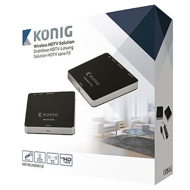 König & Meyer 23860 Sistema de transmisión inalámbrica HDMI de 5 GHz compatible con 3D y 1080p (hasta 30 metros)