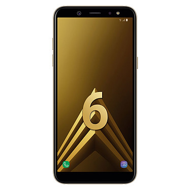 "Samsung Galaxy A6 Or Smartphone 4G-LTE Dual SIM - Exynos 7870 8-Core 1.6 Ghz - RAM 3 Go - Ecran tactile 5.6"" 720 x 1480 - 32 Go - NFC/Bluetooth 4.2 - 3000 mAh - Android 8.0"