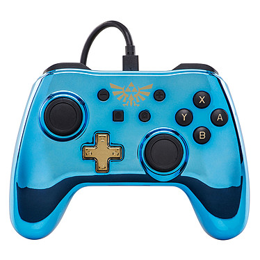 PowerA Nintendo Switch Chrome Wired Controller - The Legend of Zelda Manette The Legend of Zelda pour Nintendo Switch - Édition chromée