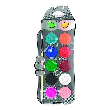 Maped Boîte 12 Pastilles Gouache Color'Peps Boîte en plastique de 12 pastilles de gouache assortis