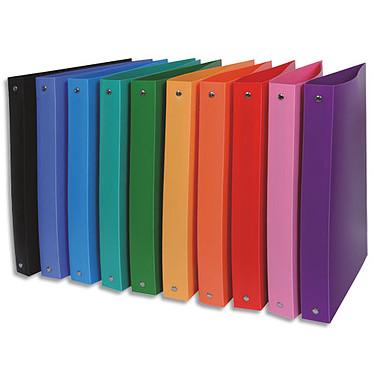 Classeur 26 x 32 cm dos de 40mm polypropylène opaque assortis Classeur en polypropylène avec dos de 40 mm coloris aléatoire pour documents A4