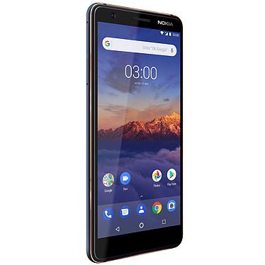 "Nokia 3.1 Dual SIM Bleu Smartphone 4G-LTE Dual SIM - MediaTek MT6750N 8-core 1.5 GHz - RAM 2 Go - Ecran tactile 5.2"" 720 x 1440 - 16 Go - NFC/Bluetooth 4.2 - 2990 mAh - Android 8.0"