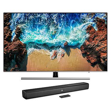"""Samsung UE49NU8005 + JBL Bar Studio Téléviseur LED 4K 49"""" (124 cm) 16/9 - 3840 x 2160 pixels - Ultra HD - HDR - Wi-Fi - Bluetooth - 2000 PQI + Barre de son 2.0 30W - Bluetooth - HDMI/USB"""
