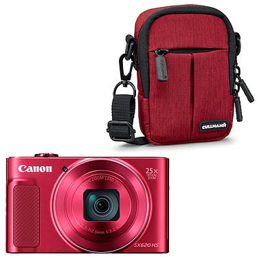 Canon PowerShot SX620 HS Rouge + Cullmann Malaga Compact 300 Rouge