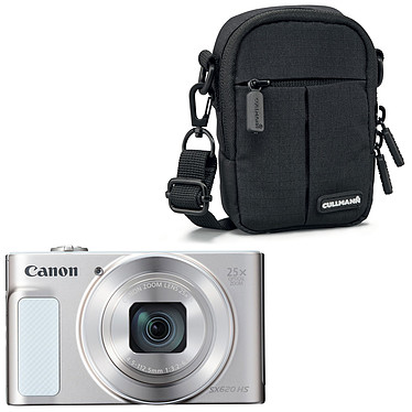 Canon PowerShot SX620 HS Argent + Cullmann Malaga Compact 300 Noir