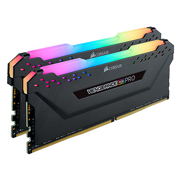 Corsair Vengeance RGB PRO Series 32 Go (2x 16 Go) DDR4 3200 MHz CL16 Kit Dual Channel 2 barrettes de RAM DDR4 PC4-25600 - CMW32GX4M2Z3200C16