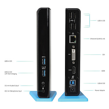 Avis i-tec USB 3.0 Dual Docking Station USB Charging Port