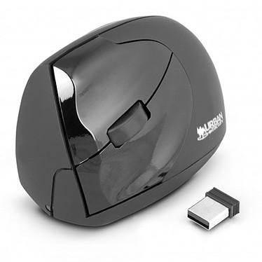 Urban Factory Wireless Ergo Mouse (pour gaucher) Souris sans fil ergonomique - gaucher - capteur laser 1600 dpi - 4 boutons - verticale
