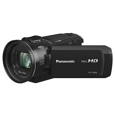 Panasonic HC-V800EF-K Caméscope Full HD grand-angle 25 mm avec zoom optique 24x, Wi-Fi et stabilisateur HYBRID O.I.S.