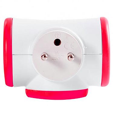 Watt&Co Triplite (rouge) Multiprise avec tête rotative 180° et 3 prises 16A (coloris rouge)