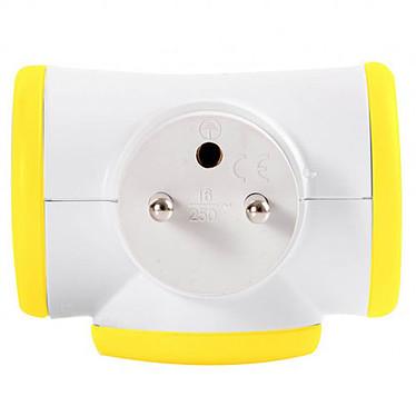 Watt&Co Triplite (amarillo) Multienchufe con cabezal giratorio de 180° y 3 enchufes de 16A (color amarillo)