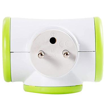 Watt&Co Triplite (vert) Multiprise avec tête rotative 180° et 3 prises 16A (coloris vert)