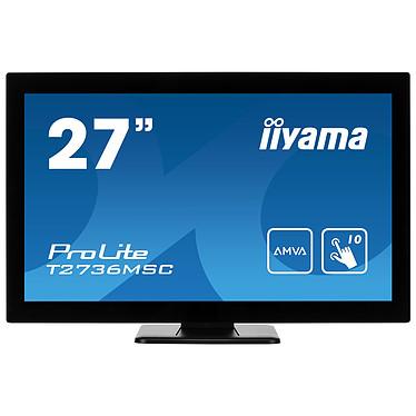 "iiyama 27"" LED Tactile - ProLite T2736MSC-B1 1920 x 1080 pixels - Tactile MultiTouch - 4 ms - Format large 16/9 - Dalle AMVA - HDMI - DisplayPort - Hub USB 3.0 - Noir"