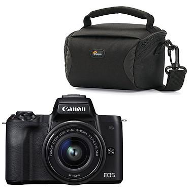 Canon EOS M50 Noir + EF-M 15-45 mm IS STM Noir + Lowepro Format 100 Noir