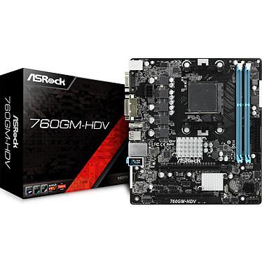 ASRock 760GM-HDV Carte mère micro-ATX Socket AM3/AM3+ AMD 760G - AMD Radeon HD 3000 - SATA 3Gbit/s - USB 2.0 - 1 x PCI Express 2.0 16x