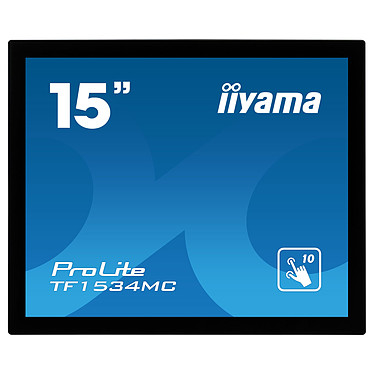 "iiyama 15"" Touch LED - ProLite TF1534MC-B5X 1024 x 768 píxeles - MultiTouch Touch - 8 ms - Formato 4/3 - Panel TN - HDMI - DisplayPort - Negro - Sin soporte"
