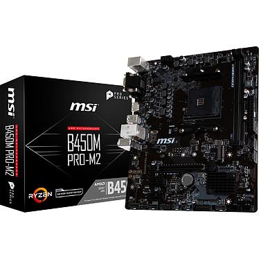 MSI B450M PRO-M2 Carte mère Micro ATX Socket AM4 AMD B450 - 2x DDR4 - SATA 6Gb/s + M.2 - USB 3.0 - 1x PCI-Express 3.0 16x