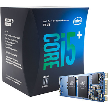 Intel Core i5-8400 (2.8 GHz) + Intel Optane 16 Go M.2 NVMe