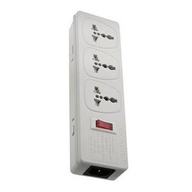 Watt&Co Multiprise universelle Multiprise 3 prises universelles avec interrupteur (coloris blanc)