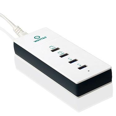 Watt&Co Chargeur USB Réversibles 4 Ports