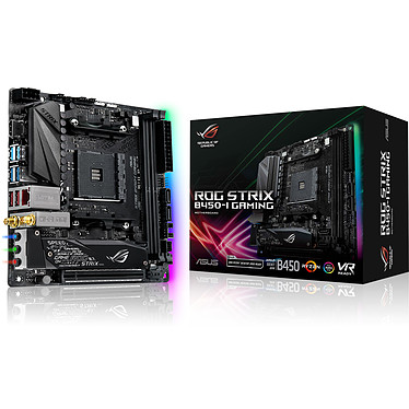 ASUS STRIX B450-I GAMING Carte mère mini-ITX Socket AM4 AMD B450 - 2x DDR4 - SATA 6Gb/s + M.2 - USB 3.1 - 1x PCI-Express 3.0 16x