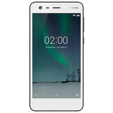 "Nokia 2 Blanc Smartphone 4G-LTE Dual SIM - Snapdragon 212 Quad-core 1.3 GHz - RAM 1 Go - Ecran tactile 5"" 720 x 1280 - 8 Go - Bluetooth 4.1 - 4100 mAh - Android 7.1"
