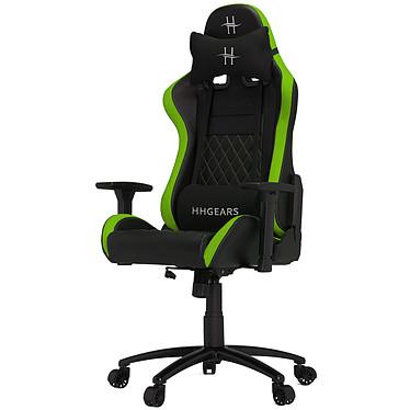 HHGears XL-500 Vert Siège en similicuir avec dossier inclinable à 135° et accoudoirs 3D pour gamer (jusqu'à 130 kg)