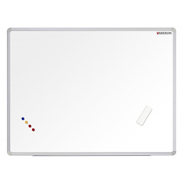 Vanerum Tableau blanc tôle laquée 90 x 60 cm Tableau blanc en tôle laquée effaçable 90 x 60 cm