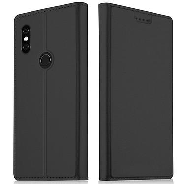 Akashi Folio Cartera Cartera Negra Xiaomi Mi A2 Estuche folio con tarjetero para Xiaomi Mi A2