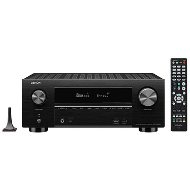 Denon AVR-X3500H Noir Ampli-tuner Home Cinema 3D Ready 7.2 - Dolby Atmos / DTS:X - 8x HDMI 4K Ultra HD, HDCP 2.2, HDR - Wi-Fi, Bluetooth, AirPlay 2 - Multiroom - Amazon Alexa