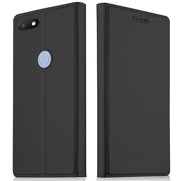 Akashi Etui Folio Porte Carte Noir Xiaomi Redmi 6A Etui folio avec porte carte pour Xiaomi Redmi 6A