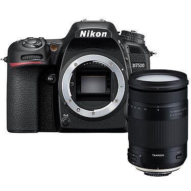"Nikon D7500 (boîtier nu) + Tamron 18-400mm f/3.5-6.3 Di II VC HLD Réflex Numérique 20.9 MP - Ecran inclinable 3.2"" - Vidéo Ultra HD - Wi-Fi + Megazoom à ouverture f/3.5-6.3"