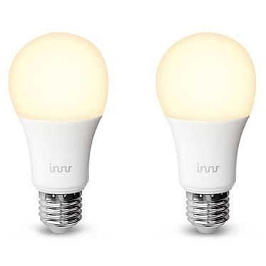 Innr Lightning Smart Bulb E27/B22 - Blanc chaud - Pack de 2 Pack de 2 ampoules LED connectées E27/B22 blanc chaud 8.5W - Compatibles avec le pont Philips Hue
